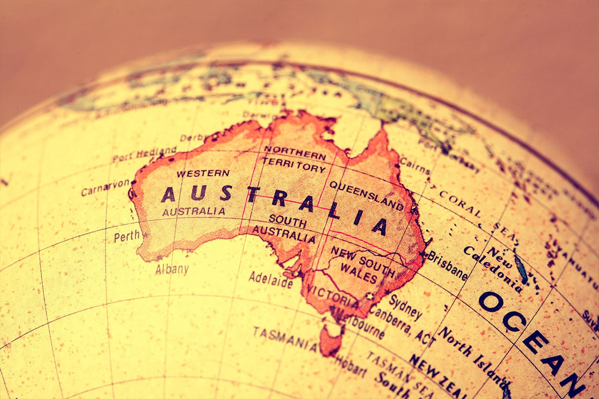מפת אוסטרליה